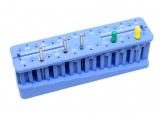 Sterylizowalny organizer do pilników endodontycznych niebieski EM02