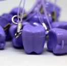 ZĄBEK - ząbki na mleczaki ze sznureczkiem - fioletowy