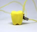 ZĄBEK - ząbki na mleczaki ze sznureczkiem - żółty